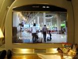 Inför landningen visas instruktioner om den lokala flygplatsens rutiner.