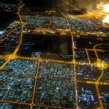Inflygning över Dubai.